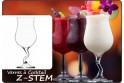 "6 Verres à Cocktail ""Z-STEM"" 40 cl"