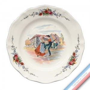 Collection OBERNAI - Assiette plate - Diam  25 cm - Lot de 6