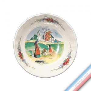 Collection OBERNAI - Assiette calotte - Diam 19 cm - Lot de 6