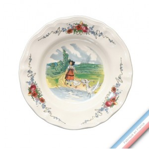 Collection OBERNAI - Assiette creuse - Diam  23 cm - Lot de 6