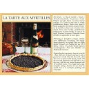 Postcard alsatian recipe - &quot;La tarte aux myrtilles&quot; - (blueberry pie)