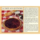Carte postale recette alsacienne - La tarte aux quetsches