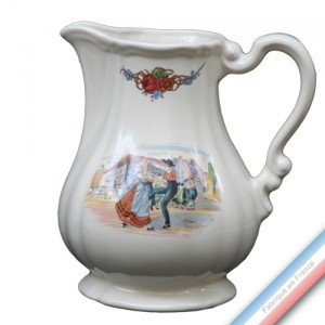Collection OBERNAI  - Pichets a Côtes Louis XV - H 19 cm - 1 L  -  Lot de 1
