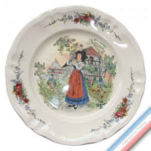 Collection OBERNAI  - Plat plat 2 - Diam  34,5 cm -  Lot de 1