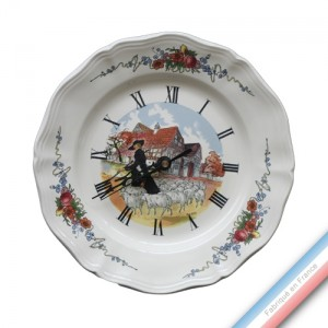 Collection OBERNAI  - Assiette pendule - Diam  25 cm -  Lot de 1