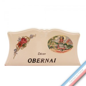 Collection OBERNAI  - Blason - H 8 - L 15 cm -  Lot de 1