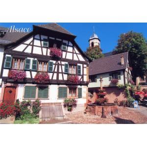 """Carte postale - """"Souvenir - Vins d'Alsace"""""""