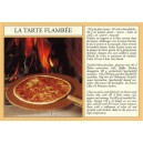 Postcard alsatian recipe -&quot;La tarte flamb&eacute;e&quot; - (flammkuchen)