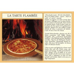 "Carte postale recette alsacienne - ""La tarte flambée"""