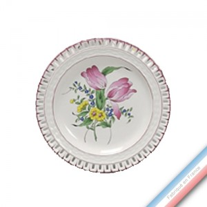 Collection REVERBERE table  - Assiette plate ajourée - Diam  25 cm -  Lot de 4