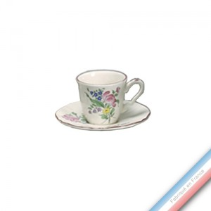 Collection REVERBERE table  - Tasse et soucoupe café - 0,11L/15cm  -  Lot de 4