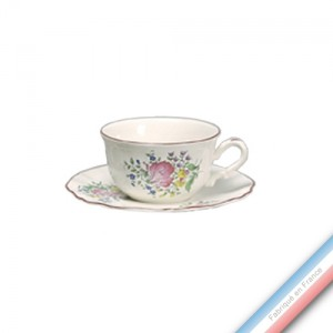 Collection REVERBERE table  - Tasse et soucoupe déjeuner - 0,40L/19cm  -  Lot de 4