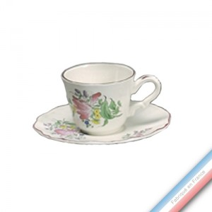 Collection REVERBERE table  - Tasse et soucoupe thé haute - 0,19L/16cm / -  Lot de 4