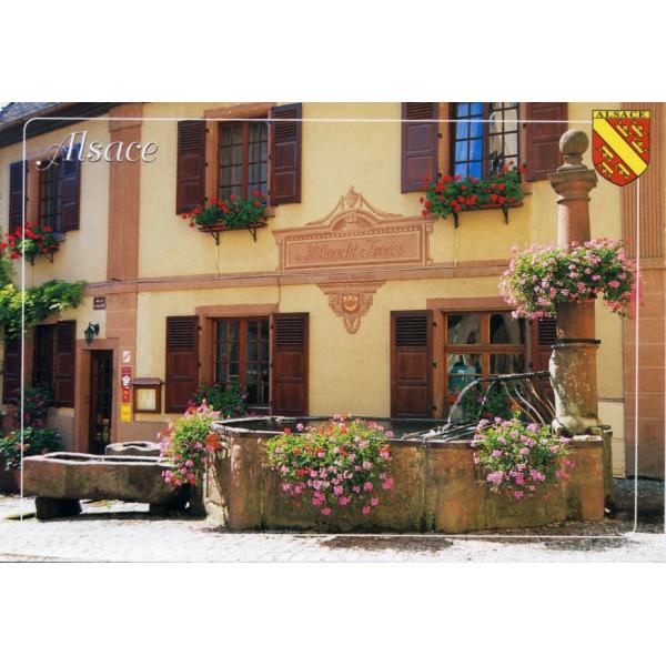 "Carte postale - ""Ecusson d'Alsace"" - Alsace-Cadeau.com"