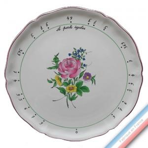 Collection REVERBERE table  - Plat à Parts Egales Festonnée - Diam  34 cm -  Lot de 1