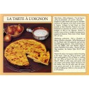 Carte postale recette alsacienne - &quot;La tarte &agrave; l&#039;oignon&quot;
