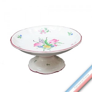 Collection REVERBERE table  - Compotier sur Pied Louis XV - H. 11 x  D 25 cm -  Lot de 1