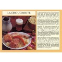 Postcard alsatian recipe - &quot;La choucroute&quot; - (sauerkraut)