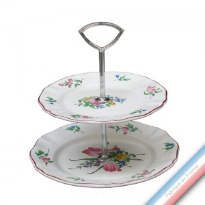 Collection REVERBERE table  - Serviteur 2 étages Louis XV - H 28,5 cm -  Lot de 1