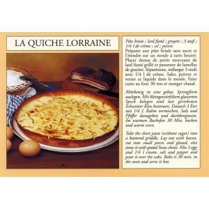 "Carte postale recette alsacienne - ""La quiche lorraine"""