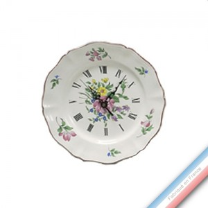 Collection REVERBERE déco  - Assiette pendule - Diam  25 cm -  Lot de 1