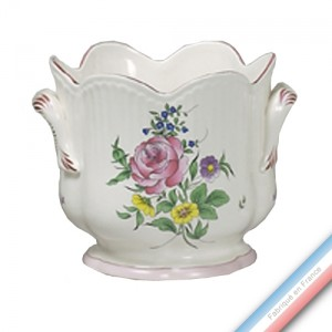 Collection REVERBERE déco  - Cache pot extra 'Grand' Louis XV - H 20 x D22 cm -  Lot de 1