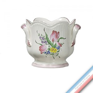 Collection REVERBERE déco  - Cache pot 'Moyen' Louis XV - H 17,5 x D18 cm -  Lot de 1
