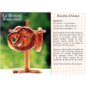 """Carte postale recette alsacienne - """"Le bretzel"""""""