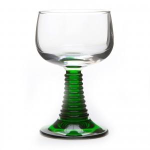 6 verres à vin d'Alsace pied torsadé