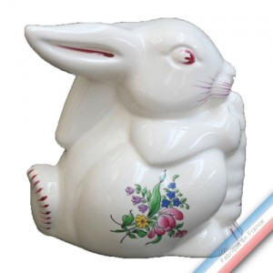 Collection REVERBERE déco  - Lapin de Pâques - H 12 cm -  Lot de 1
