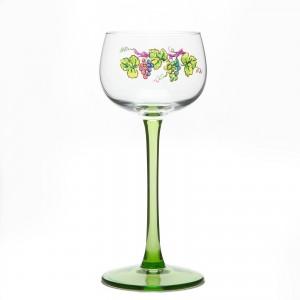 6 Verres à Vin d'Alsace motif VIGNOBLE