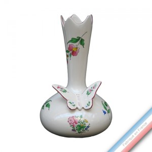 Collection REVERBERE déco  - Vase carafe / papillon - H 32 cm -  Lot de 1