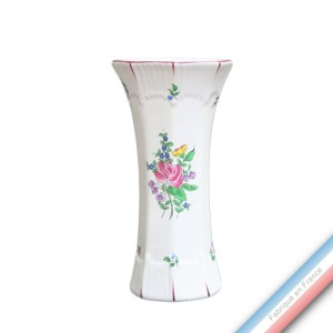 Collection REVERBERE déco  - Vase à Pans 'Moyen' Louis XV - H 27  -  Lot de 1