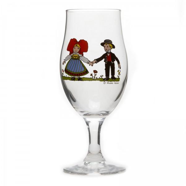 6 beer glasses tulip form type ulla hansi decor alsace. Black Bedroom Furniture Sets. Home Design Ideas