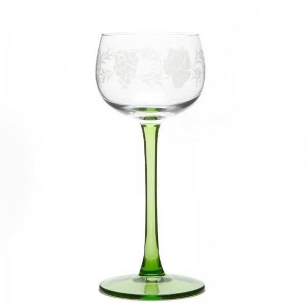 6 verres vin blanc d 39 alsace motif grappe. Black Bedroom Furniture Sets. Home Design Ideas