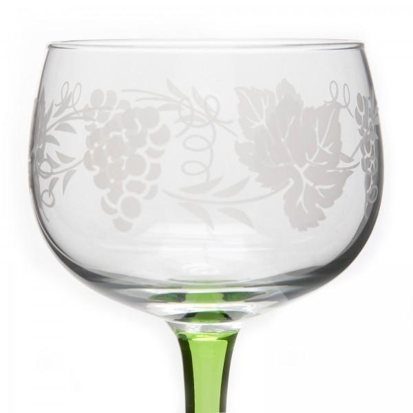 6 verres vin d 39 alsace motif grappe alsace. Black Bedroom Furniture Sets. Home Design Ideas