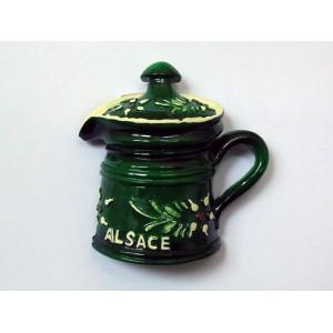 """Magnet  décoratif """"Pot à Lait"""" vert"""