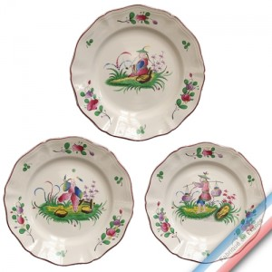 Collection CHINOIS - Assiette plate - Diam  25 cm -  Lot de 4