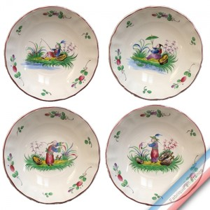 Collection CHINOIS - Assiette calotte - Diam 19 cm -  Lot de 4