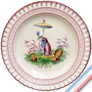 Collection CHINOIS - Assiette plate ajoure - Diam  25 cm -  Lot de 4