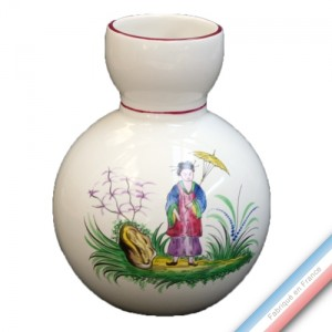 Collection CHINOIS - Vase flot Louis XV - H 15 cm -  Lot de 1