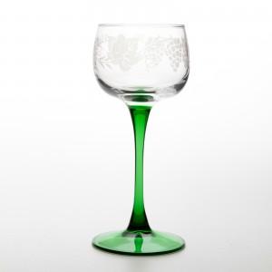 "6 Verres ""Vin du Rhin"" motif GRAPPES"
