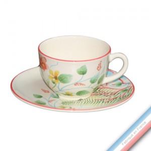 Collection FLEUR DE CORAIL - Tasse et soucoupe thé - 0,20 L / 15,5 cm -  Lot de 4