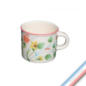 Collection FLEUR DE CORAIL - Mini mug - 0,21 L -  Lot de 4