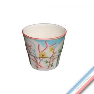 Collection FLEUR DE CORAIL - Pot confiture - H 8 cm - 0,2 L -  Lot de 1