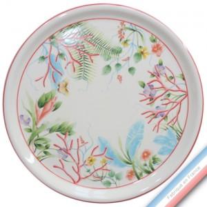 Collection FLEUR DE CORAIL - Plat tarte - Diam  32 cm -  Lot de 1