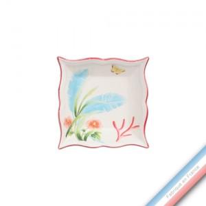 Collection FLEUR DE CORAIL - Vide poche carre - 12 x 12 cm -  Lot de 1