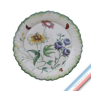 Collection FOLIES BOTANIQUES - Assiette dessert - Diam  23 cm -  Lot de 4