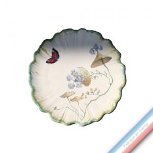 Collection FOLIES BOTANIQUES - Assiette à pain - Diam  15.5 cm -  Lot de 4