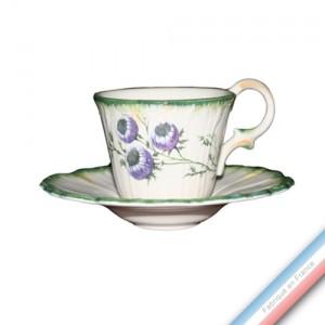 Collection FOLIES BOTANIQUES - Tasse et soucoupe café - 0,05L / 10,5cm -  Lot de 4